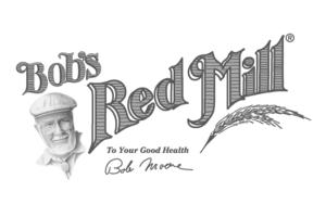 Image of Bobs Red Mill Logo in Black and White