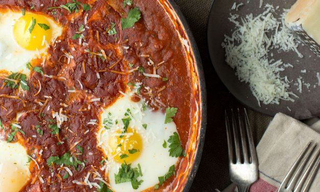 Falcone's Sunday Sauce with Poached Eggs