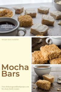 Collage of Mocha Bars with coffee
