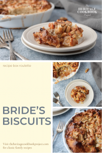 This is bride's biscuits made from apple cinnamon rolls