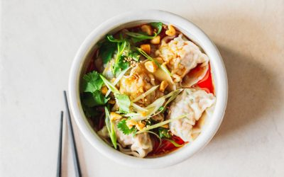 Sichuan-Style Spicy Wontons
