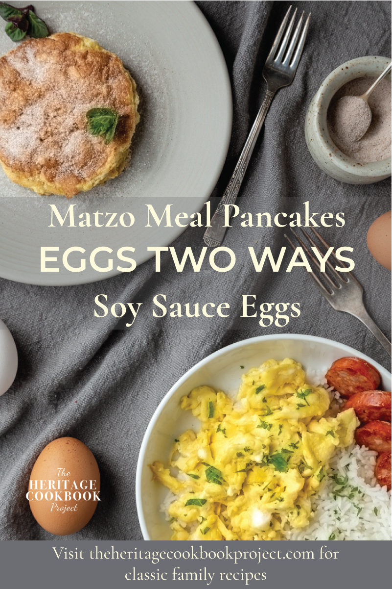 Matzo Meal Pancakes and Soy Sauce Eggs Pinterest.
