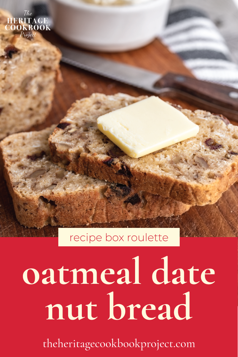 This is an oatmeal date nut bread recipe