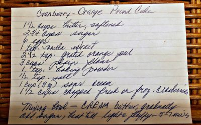 Jane's Cranberry Orange Pound Cake
