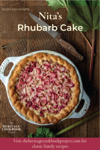 This is an image of Rhubarb Custard Pie recipe