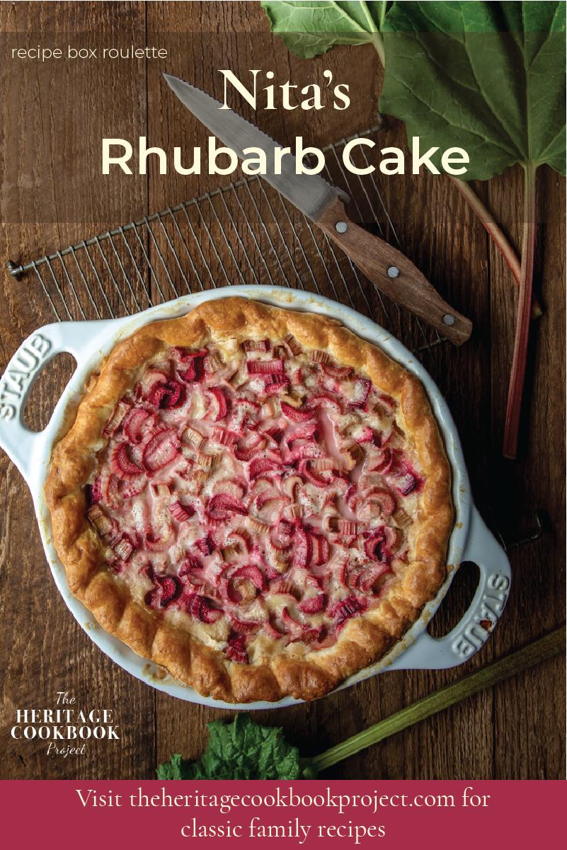 This is an image of Rhubarb Custard Pie recipe